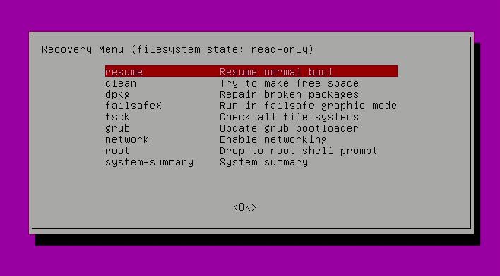 reset ubuntu login password